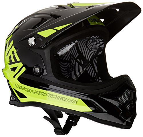 O'Neal Oneal Backflip RL2 BUNGARRA Casco Bicicleta, Black/Yellow (Black/hi-Vis), XL