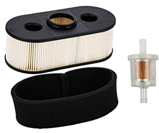 HIFROM Replacement 11013-7031 Air Filter with Pre Filter Fuel Filter for Kawasaki FH580V FH381V FH430V Lawn Mower (1 Set)