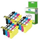 InkJello Inchiostro Cartuccia Sostituzione per Epson XP-455 XP-452 XP-445 XP-442 XP-435 XP-432 XP-355 XP-352 XP-345 XP-342 XP-335 XP-332 XP-257 XP-255 XP-247 XP-245 XP-235T2996(BK/C/M/Y, 12-pack)