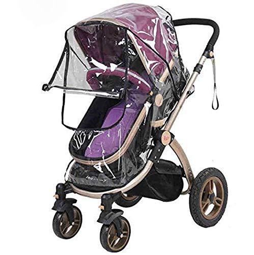 Lawei 2 Stück Regenschutz für Kinderwagen Universal Regenverdeck für Buggy Wasserdicht Windschutz mit Zugangsfenster