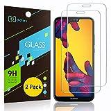 Didisky Cristal Templado Protector de Pantalla para Huawei P20 Lite, [Toque Suave] Fácil de Limpiar, 9H Dureza, Fácil de Instalar, [2-Unidades]