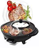 Multifunc Hot Pot / Pan barbacoa, Parrilla eléctrica sin humo Hot Pot cubierta Korean BBQ Grill Shabu Shabu Pot, antiadherente olla caliente de la parrilla, Shabu-Shabu la parrilla de una sola pieza P