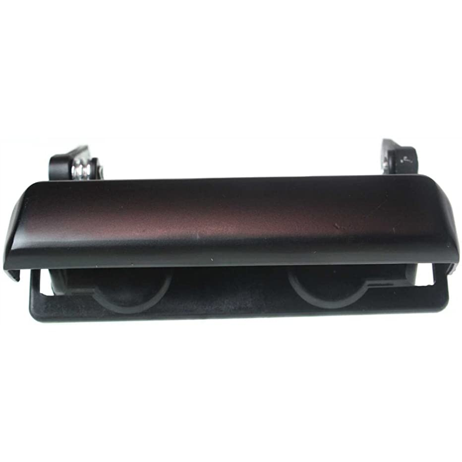 Tailgate Handle compatible with F-150/F-250 92-96/Mazda Pickup 94-10 Smooth Black Metal