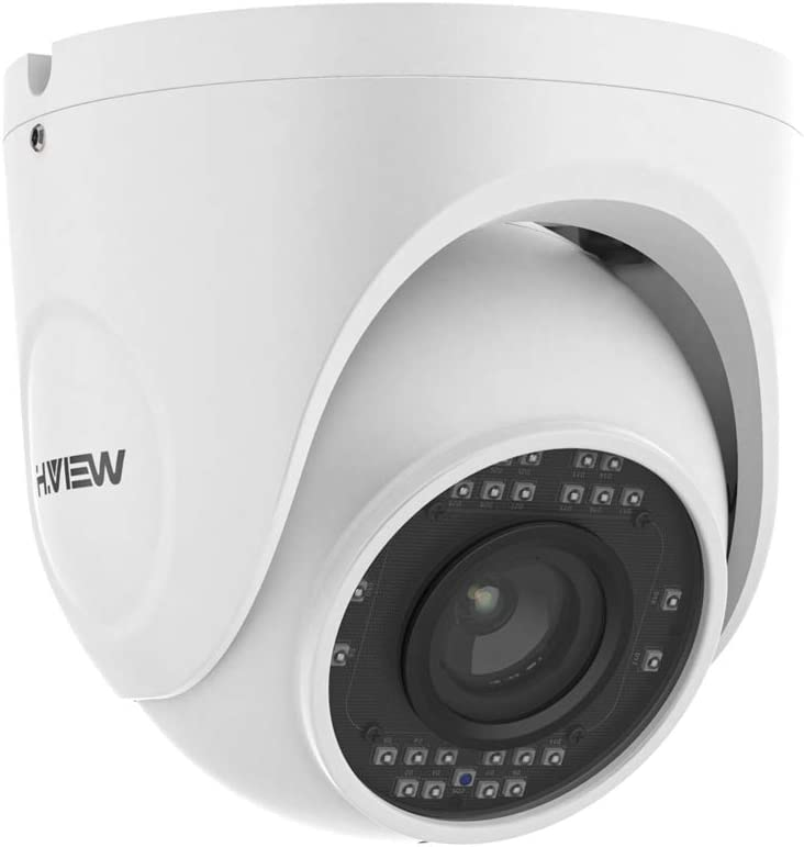 H.VIEW 4K Dome Security Camera, 2.7-13.5mm Lens Brings 5X Optical Zoom Abaility, Outdoor POE Camera with Audio, Auto Focus, H.265, Motion Detection, IP66 Waterproof Rated