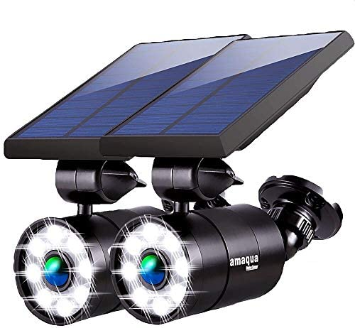 Solar Motion Sensor Lights Outdoor 1400 Lumen 9 Watt 110W Equ Aluminum Solar Flood Security product image