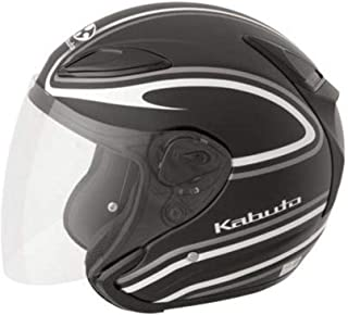 Kabuto XF-3-74-1161M Avand II Staid Performance Helmet , Distinct Name: Staid Flat Black/White, Gender: Mens/Unisex, Helmet Category: Street, Helmet Type: Open-face Helmets, Primary Color: Black, Size: Md