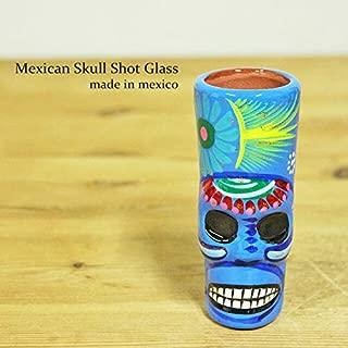 RUG&PIECE Mexican skull メキシカンスカル ショットグラス メキシコ製 (int-2206)