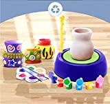 LITTLEFUN Pottery Wheel Air DIY Craft Kit for Kids Age 8 and Up,Dry Clay Refill Argil,Purple