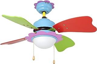 Orbegozo CC06275 Ventilador de Techo con luz, 3 velocidadesaspas de Colores, 75 cm de diámetro, 50 W de Potencia, Negro