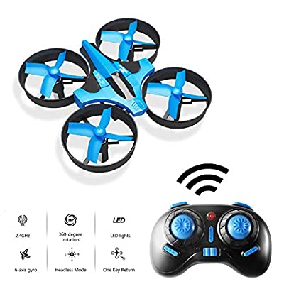 Hotbird Mini Drone for Kids 2.4G 6 Axis Gyro Headless Mode, One Key Return RC Quadcopter, 360°Flip, Remote Control, Beginners Children Drone with LED Lights