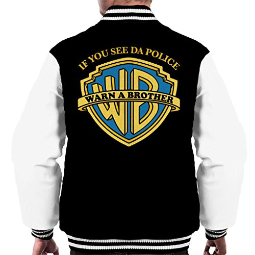 If You See Da Police Warn A Brother Men's Varsity Jacket
