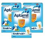 Aptamil Kinder-Milch 1+ ab dem 12. Monat, 3er Pack (3 x 600g) -
