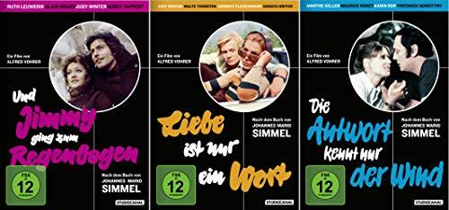 Johannes Mario Simmel Edition: Liebe ist nur ein Wort + Und Jimmy ging zum Regenbogen + Die Antowrt kennt nur der Wind [3er DVD