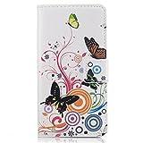 HUANGTAOLI Custodia Cover in Pelle per Huawei Ascend P7