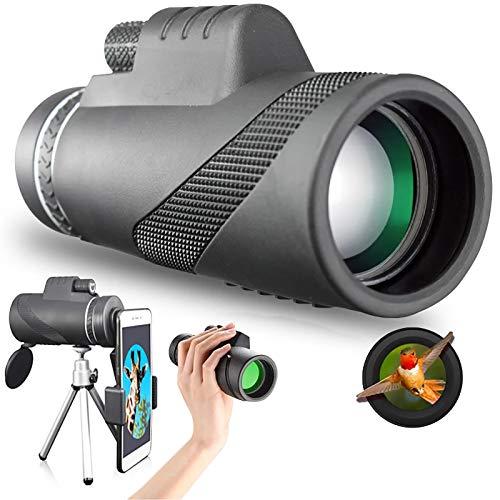 XQMY 40X60 Zoom 10000m Telescopio monocular de Largo Alcance de Alta Potencia para teléfono Inteligente Impermeable para Deportes al Aire Libre Camping Viajes Senderismo Observación de Aves