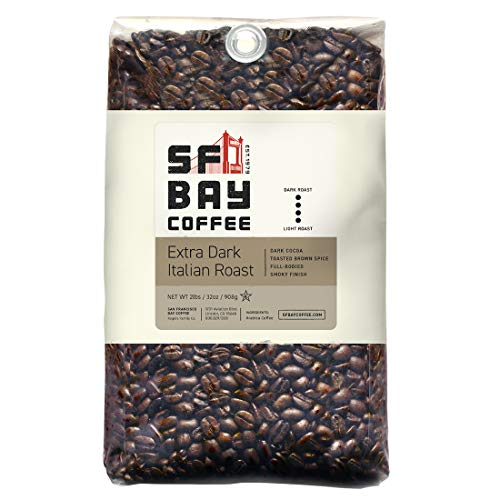 SF Bay Coffee Extra Dark Italian Blend Whole Bean 2LB (32 Ounce) Dark Roast