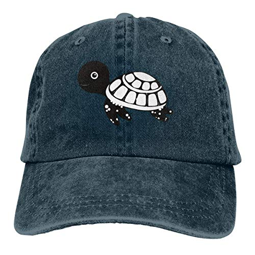 N / A Sombrero De Sol,Dad Hat,Ocio Sombrero,Sombrero De Deporte,Sombreros Sombrilla Al,Cute Cartoon Sea Turtle Denim Jeanet Gorra De Béisbol Ajustable Dad Hat