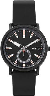 Skagen Colden Men's Black Dial Silicone Analog Watch - SKW6612