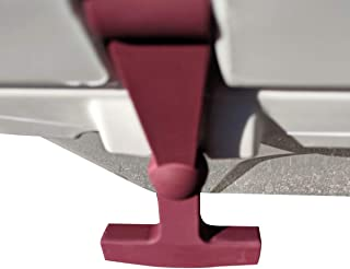 BEAST COOLER ACCESSORIES - Maroon Replacement Lid Latches (2-Pack) Compatible with Yeti & RTIC Hard Coolers - Larger, More Durable, Ergonomically Improved Design in Maroon
