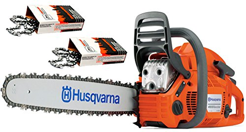 "Husqvarna 455 Rancher (55cc) Cutting Kit, includes a 455 Rancher chainsaw PLUS 20"" Bar/Chain PLUS 3 Extra WoodlandPRO Chain Loops"