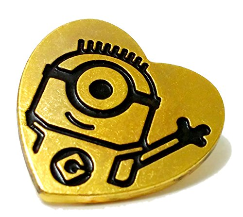 illumination Despicable Me The Minions Official Movie Special Loving Golden Heart Badge
