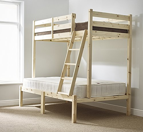Strictly Beds and Bunks - Duchess Triple Sleeper Bunk Bed, 4ft 6 Double + 3ft Single