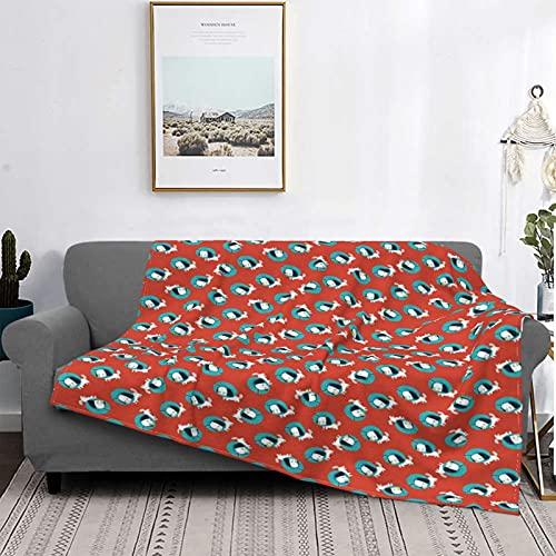 Mantas de microfibra ultra suaves, gráficos de perros con collares isabelinos, patrón temático para amantes de las mascotas veterinarias, suave y ligera para cama, sofá, sala de estar, 50 'x 60'