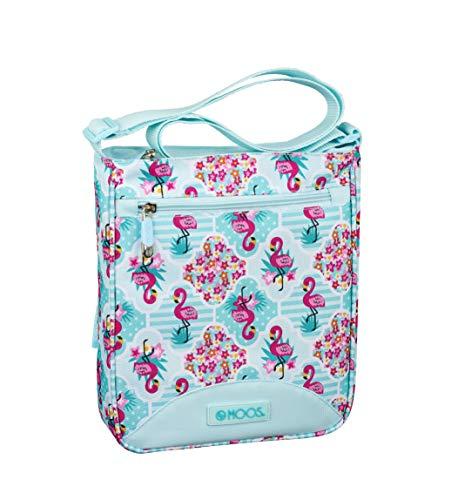 Moos Safta Umhängetasche Flamingo Pink mit Außentasche 210 x 45 x 250 mm, blau/türkis (Blau) - 611918431