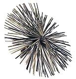 Dario Tools CMB207250 - Deshollinador (metal, 7,20 m, erizo de metal de 25 cm), color negro