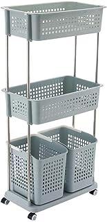 Boîte de rangement Panier de rangement de vêtements sales en plastique multicouche simple Panier de ménage ménage mettre d...