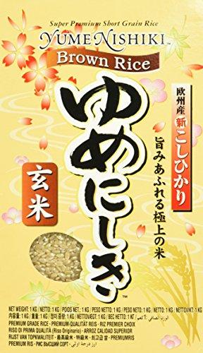 YUME NISHIKI JFC Brown Rice, 2er Pack (2 x 1 kg)