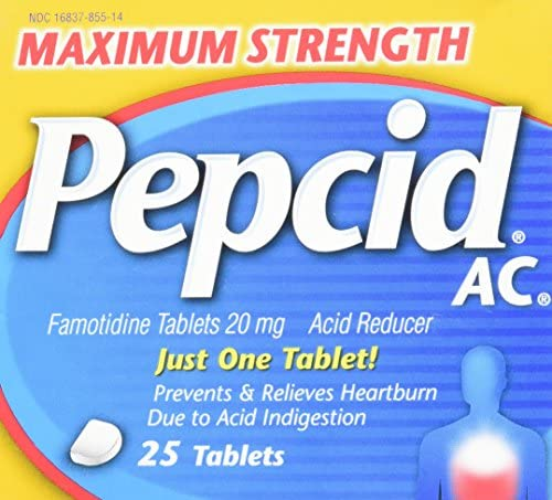 Pepcid Maximum Strength Tablets 25 Count product image