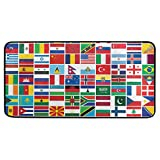 CPYang Küchenteppich, Motiv Weltflagge, rutschfest, rutschfest, rutschfest, für Küche, Badezimmer, 50 x 99 cm
