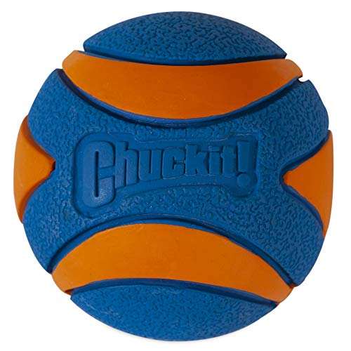 Chuckit! Ultra Squeaker Dog Ball High Bounce Blue/Orange 3 sizes, Large