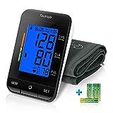 Tovendor Blood Pressure Cuff Monitor Upper Arm, Auto Pulse Rate Systolic Diastolic BP Tracker, Irregular Heartbeat & Hypertension Detector, Backlit Display, 2 * 90 Memor