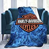 Harley Davidson Blanket Super Soft and Comfortable Flannel Throws Blanket for Adults Or Kids, Used for Sofa Or Bed 50'x40'