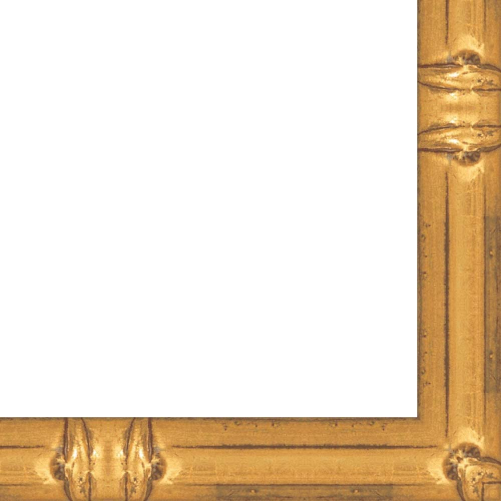 14x19 Gold Bamboo Wood Picture Frame With Acrylic Front and Foam Board Backing