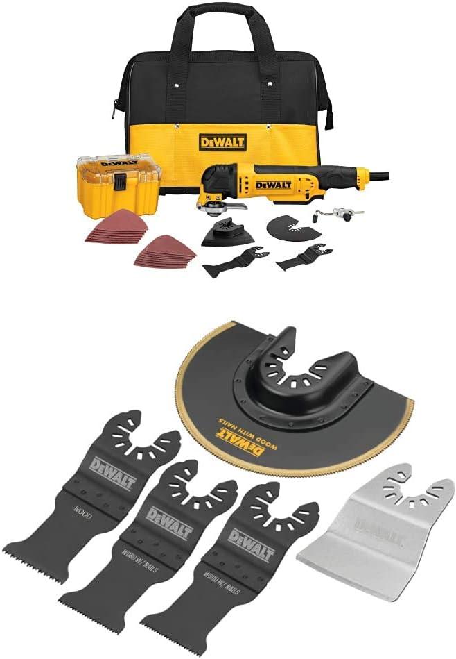 DEWALT 3 Amp Oscillating Tool Kit with 29 Accessories DWE315K New