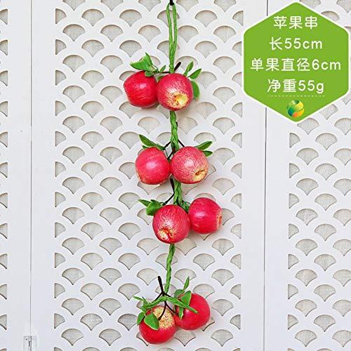 Aomerrt 2 stuks kerstversiering vervalste fruit kunstmatige simulatie levensmiddelen groente fruit pu rode peper valse citroen groente voor huis restaurant keuken tuin decor