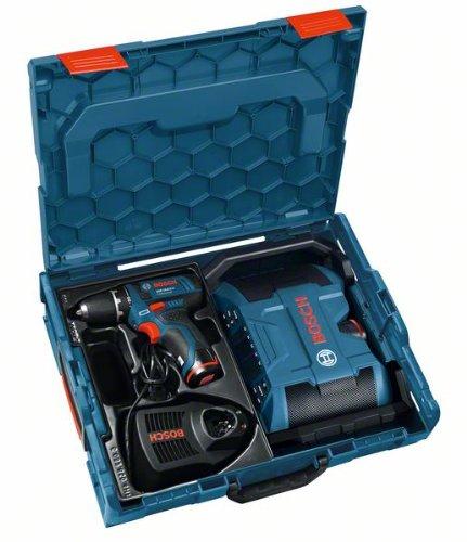 BOSCH Akkuschrauber GSR 10,8-2-Li + Akku-Radio GML 10,8 mit 2x Akku 2,0 Ah + Ladegerät + L-Boxx 0601429204