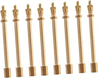 Homyl Conjunto de 8 hastes de extensão de válvula de pneu de cobre caminhão caminhão caminhão roda dupla 100 mm