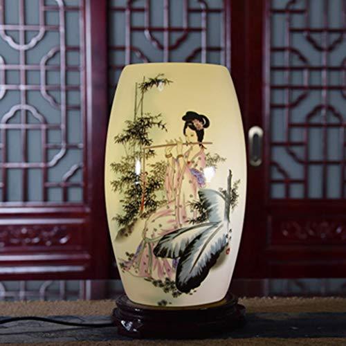 Tischlampe Retro Keramik Nachttischlampe Vintage Schreibtischlampen Blau und Weiß Porzellan Pastell Keramik Tischlampe Warmes Licht for Schlafzimmer Wohnzimmer Studie Schreibtischlampen ( Color : B )