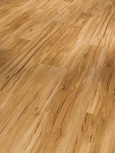 Parador Klick Vinyl Bodenbelag Basic 30 Eiche Memory Natur Landhausdiele Gebürstete Struktur 1,825m², hochwertige Holzoptik mittel braun 9,4mm, einfache Verlegung