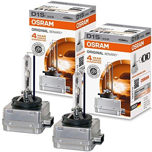 Ampoule xénon Osram, série originale D1S 35W, PK32d-2 66140 Xenarc Décharge Gazeuse Lampe Voiture Luminosité Brillante lot de 2