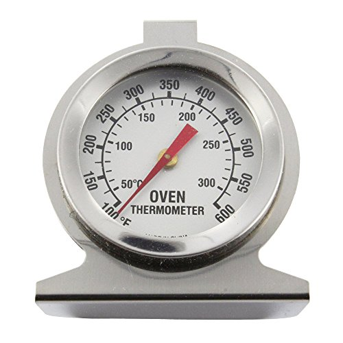 SPARES2GO universele oven fornuis roestvrij staal thermometer temperatuurmeter (300oC, 600oF)