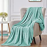"""Walensee Fleece Blanket Plush Throw Fuzzy Lightweight (Throw Size 50""""x60"""" Light Blue) Super Soft Microfiber Flannel Blankets for Couch, Bed, Sofa Ultra Luxurious Warm and Cozy for All Seasons"""