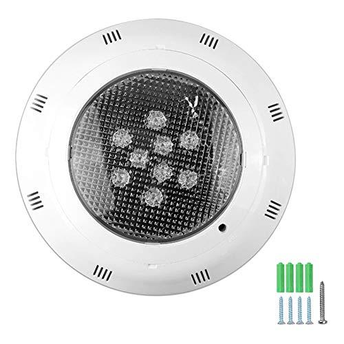 CUHAWUDBA Pool lamp Een LED 12V / 24V 9W RGB Pool Light Een waterdichte LED voor buiten wandlamp Een onderwaterlicht voor zwembad Waterdicht Party White