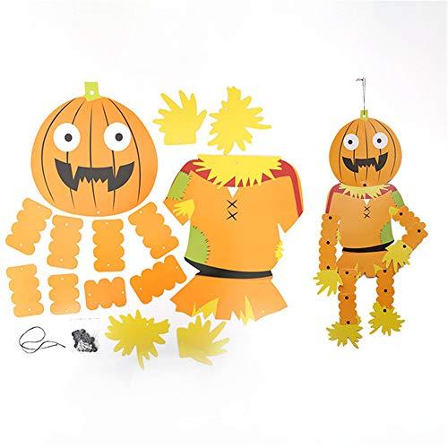 ANFLY Pappe Halloween DIY Totenkopf Anhänger Party Dekoration Wohnaccessoires grüner Mann