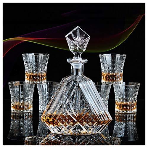 Zcxbhd Whisky Cup Wijn Glas Pak Huishoudelijk Transparant Kristal Glas Rode Wijn Champagne Glas Lege Wijn Fles Wijn Separator Decanter
