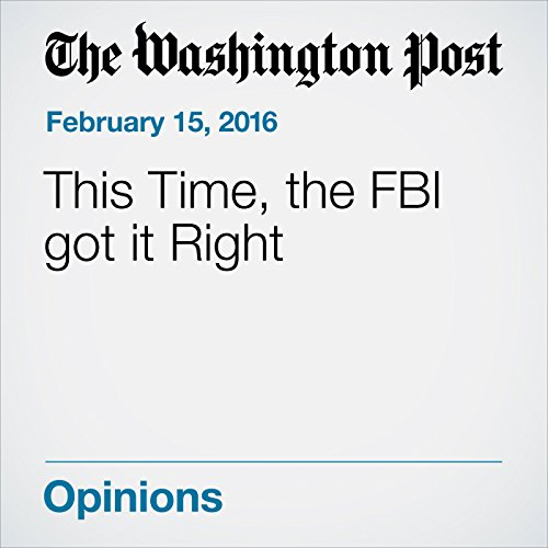 『This Time, the FBI got it Right』のカバーアート